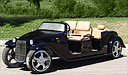California Roadster Black Limo Golf Cart