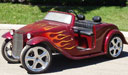 California Roadster Golf Cart with Flames