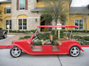 California Roadster Red Limo Golf Cart