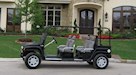 H3 Hummer Limo Black Golf Cart 3