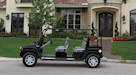 H3 Hummer Limo Black Golf Cart 4