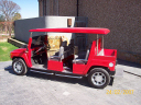 H3 Hummer Limo Red Golf Cart 1