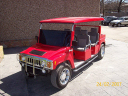 H3 Hummer Limo Red Golf Cart 2